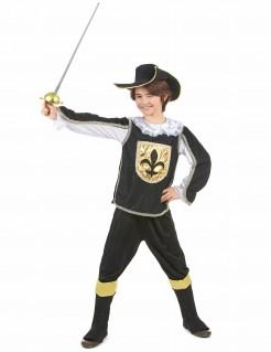 Musketier-Kinderkostüm schwarz-gold