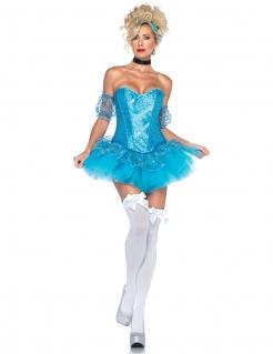 Verführerische Märchenprinzessin Damenkostüm blau