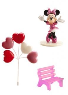 Kuchen Deko Lizenzartikel Minnie Maus 3-teilig rosa