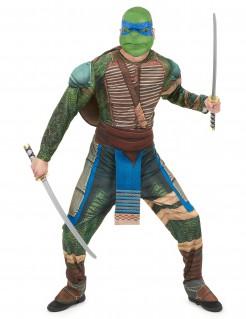 Ninja-Turtles-Kostüm Leonardo grün-braun
