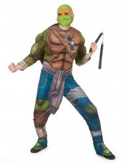 Ninja-Turtles-Kostüm Michelangelo grün-braun