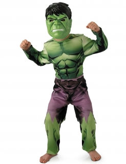 Hulk™-Kinderkostüm Avengers™ Kostüm grün-lila-schwarz