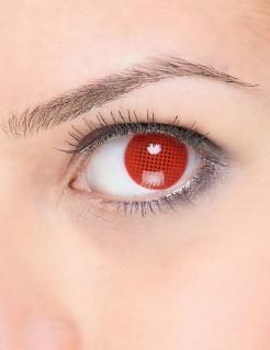 Kontaktlinsen Pixel rot