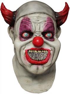Verrückter Grusel-Clown Halloween-Maske bunt