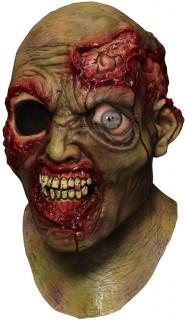 Einäugiger Zombie Halloween-Maske animiert bunt