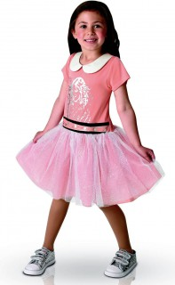 Violetta-Kinderkostüm Disney-Lizenzkostüm rosa-lachs-weiss