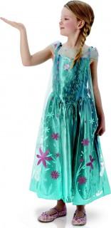 Disney Frozen Elsa Prinzessin Kinderkostüm Deluxe Lizenzware türkis-pink