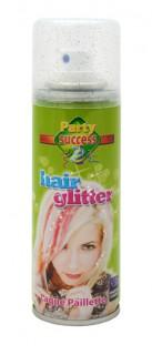 Glitzer Haarspray Karneval-Zubehör grün 125ml