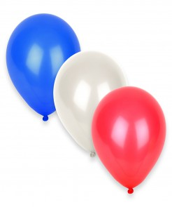 Party Zubehör Luftballons Frankreich 12 Stück blau-weiss-rot