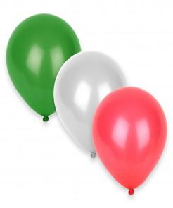 Set Luftballons Weiß Grün und Rot