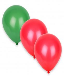 Party Zubehör Luftballons 12 Stück grün-rot