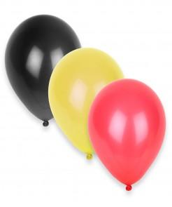 Party Zubehör Luftballons Länder 12 Stück schwarz-gelb-rot