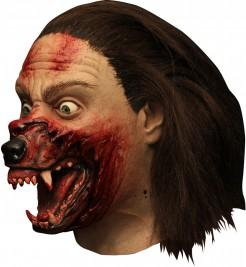 Hemlock Grove Werwolf Latex-Maske Halloween-Lizenzware braun-haut