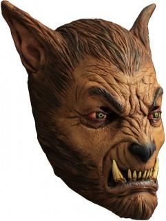 Teuflischer Werwolf Latex-Maske Halloween braun