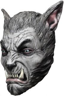 Mordlustiger Werwolf Horror-Maske grau