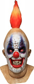 Psychotischer Horror-Clown Halloweenmaske bunt