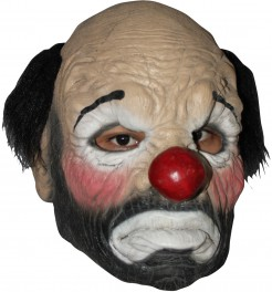Trauriger Psycho-Clown Latex-Maske bunt
