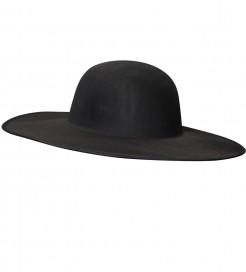 Priester-Hut Kostümzubehör schwarz