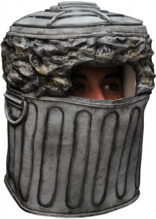 Mülleimer Latexmaske