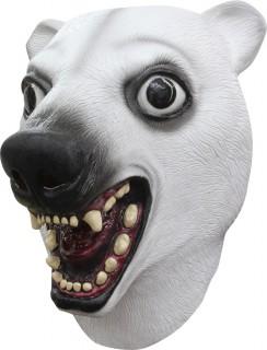 Lustige Maske Eisbär für Erwachsene weiss