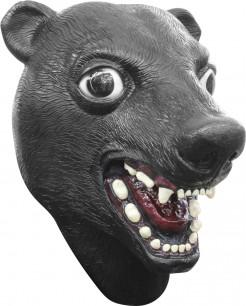 Lustige Maske Bär für Erwachsene schwarz