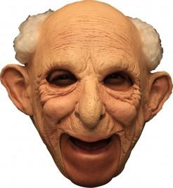 Alter Mann Maske Opa Kostüm-Accessoire hautfarben