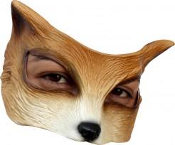 Fuchs Halbmaske rotbraun