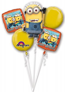 Minions™ Luftballon-Strauß Lizenzware