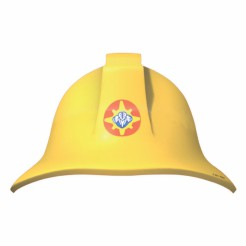 Helm Set Lizenzartikel Sam der Feuerwehrmann für Kinder 8 Stück gelb