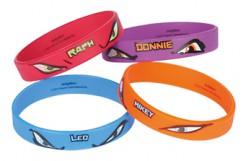 Armbänder Lizenzartikel Ninja Turtles 4 Stück bunt