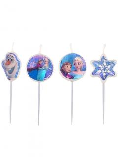 Disney Frozen Party-Kerzen Kindergeburtstag 4 Stück bunt