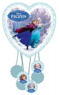 Party Zubehör Piñata in Herzform Lizenzartikel Eiskönigin Frozen blau