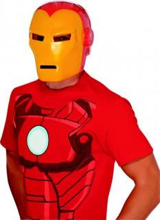 Iron Man Maske Superhelden-Maske Marvel-Lizenzartikel rot-gelb