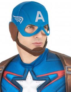 Captain America Haube für Erwachsene blau-braun