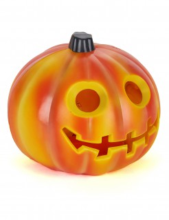 Gruseliger Leuchtkürbis Halloween-Partydeko orange-schwarz