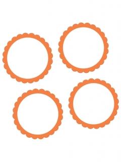 Buffet-Sticker zum Beschriften Partydeko-Set 20 Stück weiss-orange