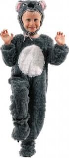 Süsses Koala-Kinderkostüm grau