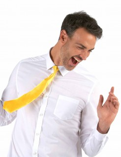 Krawatte Kostümaccessoire neongelb