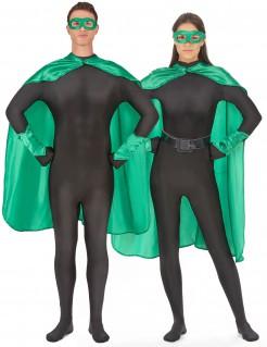 Superheld-Kostümset für Erwachsene 4-teilig grün