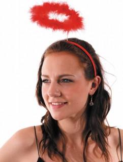Haarreif mit Heiligenschein für Erwachsene rot