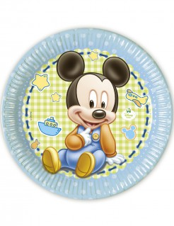 Set Pappteller Baby Mickey
