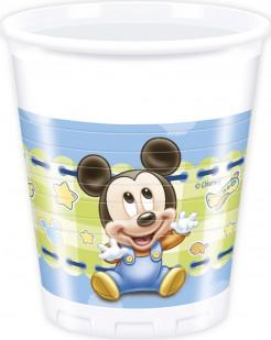 Disney Baby™ Mickey Maus™ Partyteller Kindergeburtstag Lizenzware 8 Stück bunt 200ml