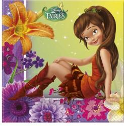 Disney Fairies™ Tinkerbell™ Partyservietten Lizenzware 20 Stück bunt 33x33cm