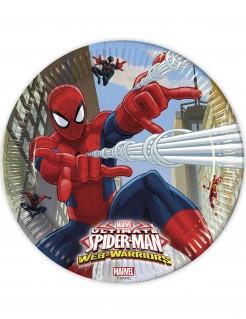 Spiderman™ Partyteller 8 Stück Lizenzware 23cm