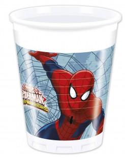 Kunststoffbecher Spider-Man 8 Stück weiss-bunt 200ml