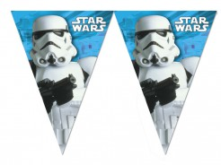 Star Wars Wimpel-Girlande Stormtrooper Party-Deko bunt 280cm