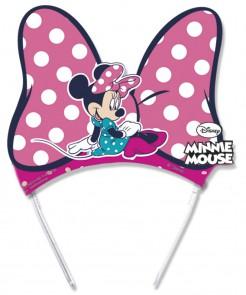 Minnie Mouse Tiaras Party-Zubehör 6 Stück bunt 13,5x12,5cm