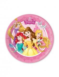 Disney Prinzessinnen™ Pappteller für Kindergeburtstage 8 Stück bunt 20cm