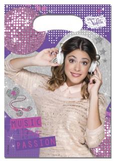 Violetta™-Geschenkbeutel Disney-Lizenzartikel lila-bunt 16x22cm