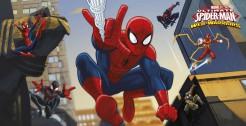 Spiderman Wandposter Party-Deko bunt 77x150cm